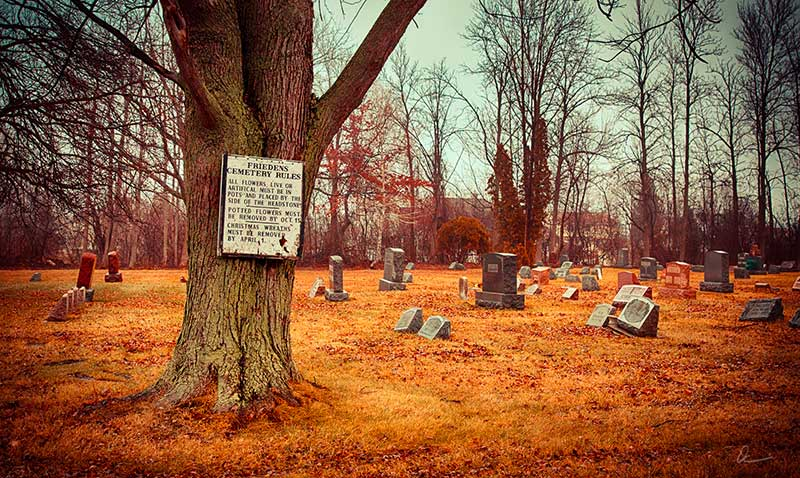 Friedens Cemetery Rules